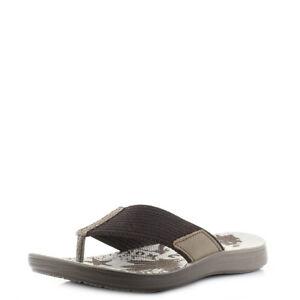 6f24f9095 Mens Inblu VA-20 Dark Brown Comfort Summer Thong Sandals Flip Flops ...