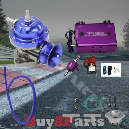 Purple Dual Stage 30 PSI Boost Controller Blue Turbo Type-RS BOV Blow Off Valve