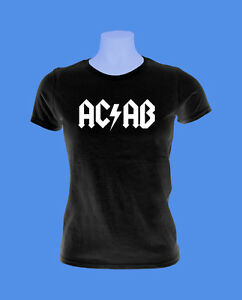 Girlie-Damen-Shirt-Maedchen-AC-AB-Polizei-Streetfight-Hool-move2be-schwarz-XS-L
