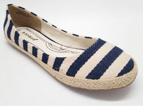 Details about  /Canvas Espadrille Striped Flats #Karri-09