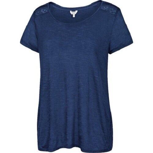 Fat Face-femme-millbrook Wrap Back Tee-bleu - 100% Viscose-bnwt