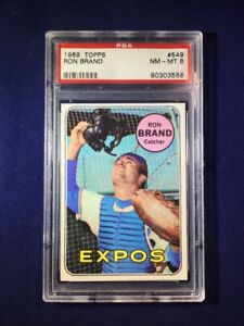 1969 Topps Ron Brand #549 PSA 8 Montreal Expos