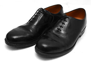 Mens Black Leather Parade Shoes British Army  RAF Cadet With Toe Cap All Size