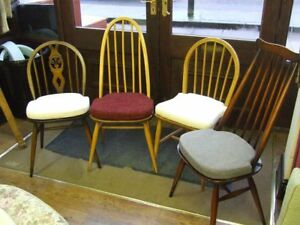 Image Is Loading Ercol DINING CHAIR Seat Cushions Pads Set Of