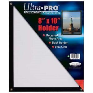 ULTRA-PRO-BLACK-FRAME-8-034-x10-034-SCREWDOWN-PHOTO-HOLDER-New-Clear-8x10-Recessed