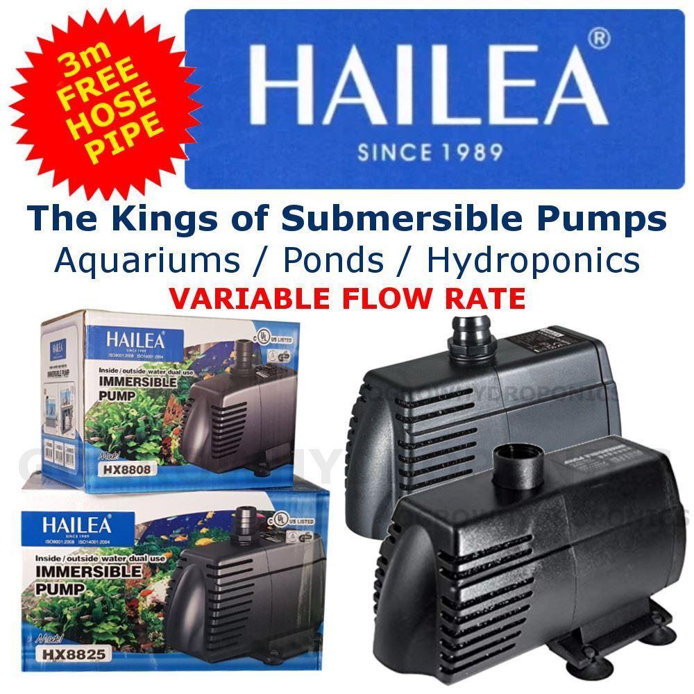 Hx Serie Sommergibile Pompe Acqua + 3m Tubo Flessibile Pipe- Hailea