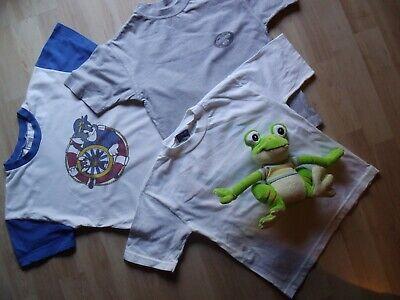Kindert-shirtset T-shirt 3 Stk Gr Weiss/blau Reisen Grau 110-116 In Weiss