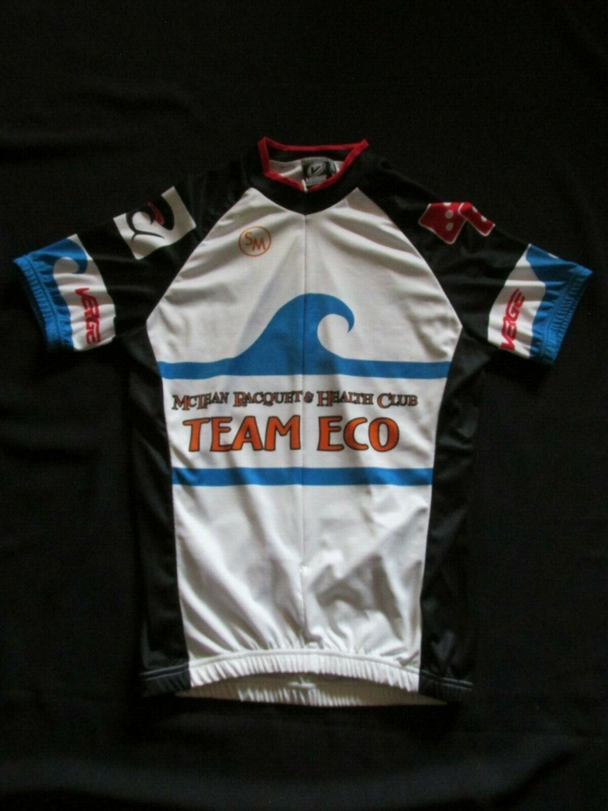 Verge Sport Team Eco Cycling 34 Zip Short Sleeve Jersey Men's Small NYZ11F