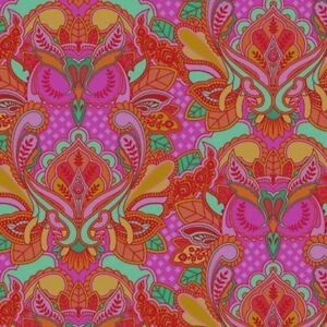 Free-Spirit-Tula-Pink-All-Stars-Peony-Owl-PWTP117-Cotton-Fabric-BTY