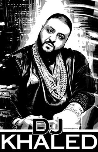 "DJ KHALED /""Black Light/"" Poster"