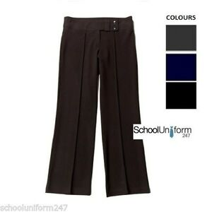 Girls Lycra 2 Button Trousers