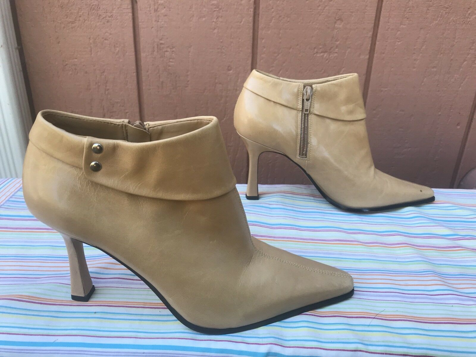 NEW Ankle Nine West O-PAM-O Damens US 7.5M Braun Leder Ankle NEW Stiefel Pointed Toe 149 503a61