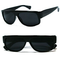 Retro Classic Old School Eazy E Flat Top Style Gangster Cholo Sunglasses- Black