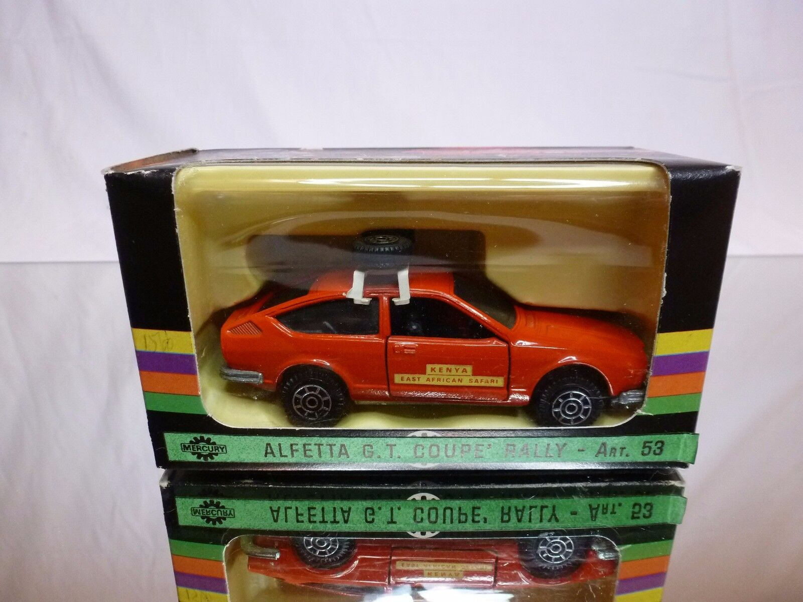 MERCURY ALFA ROMEO ALFETTA GT KENYA EAST AFRICAN SAFARI - RED 1 43 - GOOD IN BOX