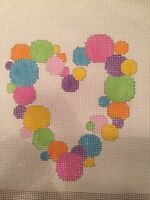 Needlepoint Canvas B Gantz Bubbles And Hearts With Guide