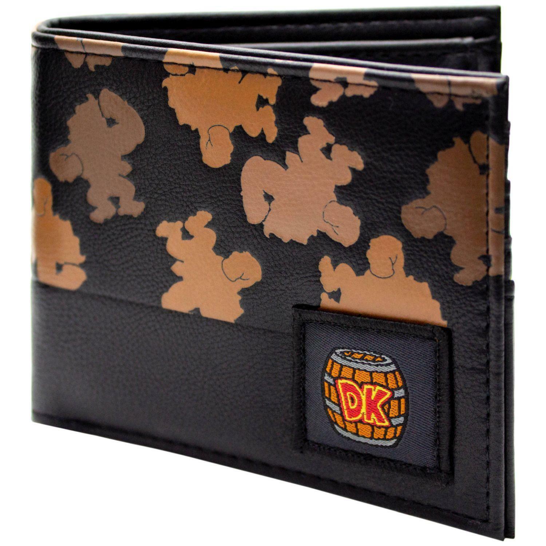 Official Donkey Kong DK Silhouette Black Coin & Card Bi-Fold Wallet *SECOND*
