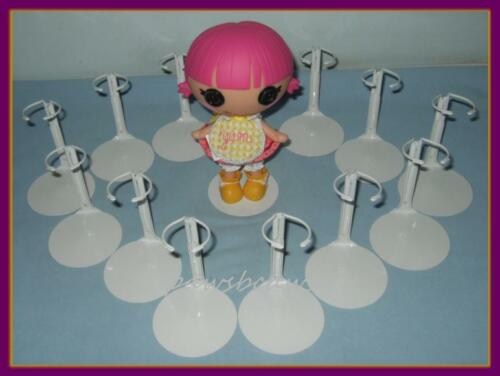 "12 White Kaiser Doll Stands fits 8/"" LaLaLoopsy Littles U.S.SHIPS FREE"