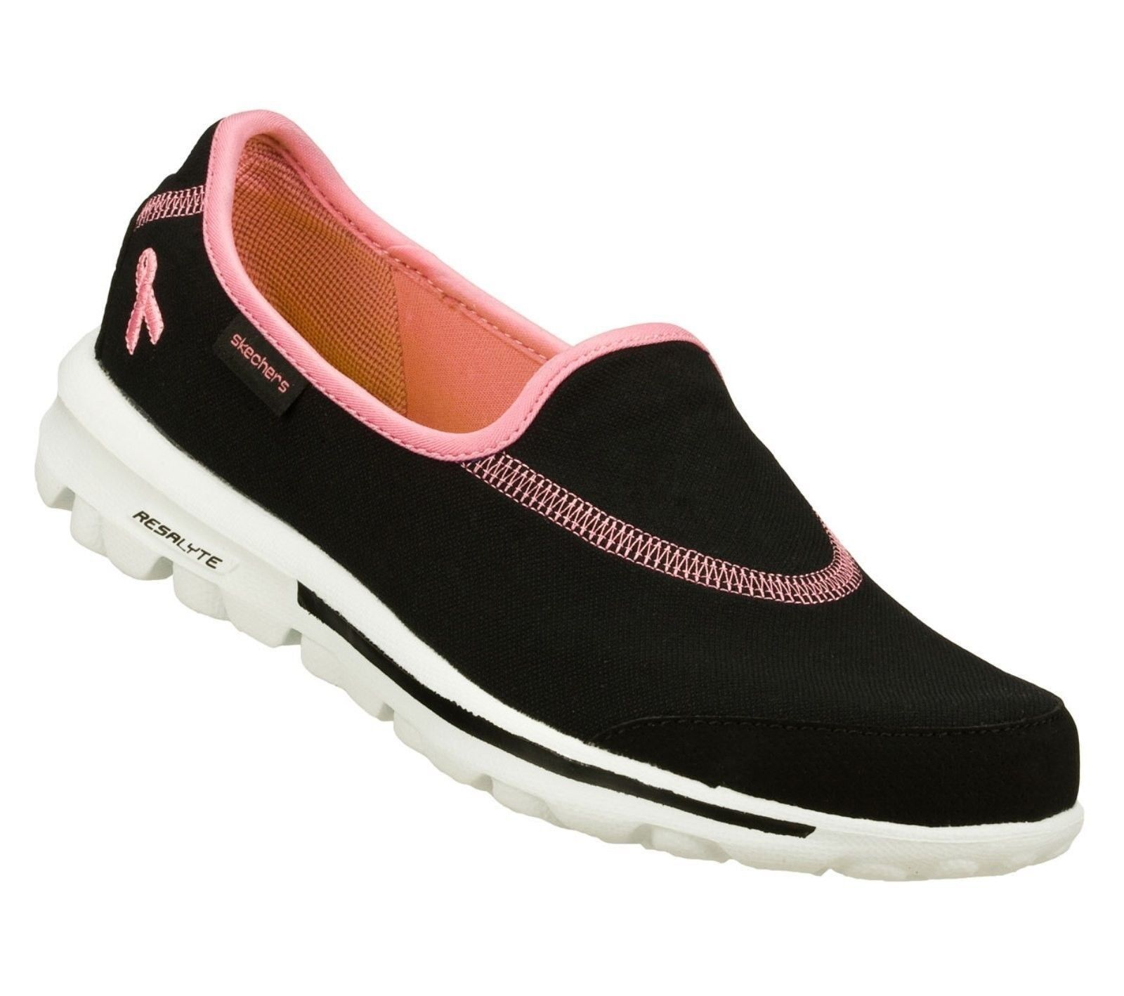 NEW SKECHERS HOPE 13649 BREAST CANCER AWARENESS the CURE BLACK PINK SHOES 7 Last