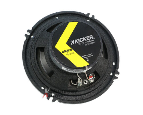 Kicker DSC650 6.5 Speakers 1 Pair Front Adapters For Honda Accord /& Civic