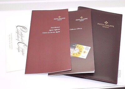 Offen Patek Philippe Vintage Zertifikat Originality Papiere Leder Mappe Selten!