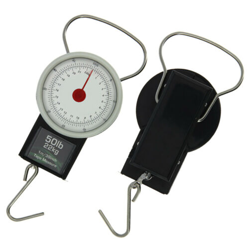 NGT Carp Coarse Fishing Tackle Day Weigh Luggage Scales 22kg 50lb Tape Measure