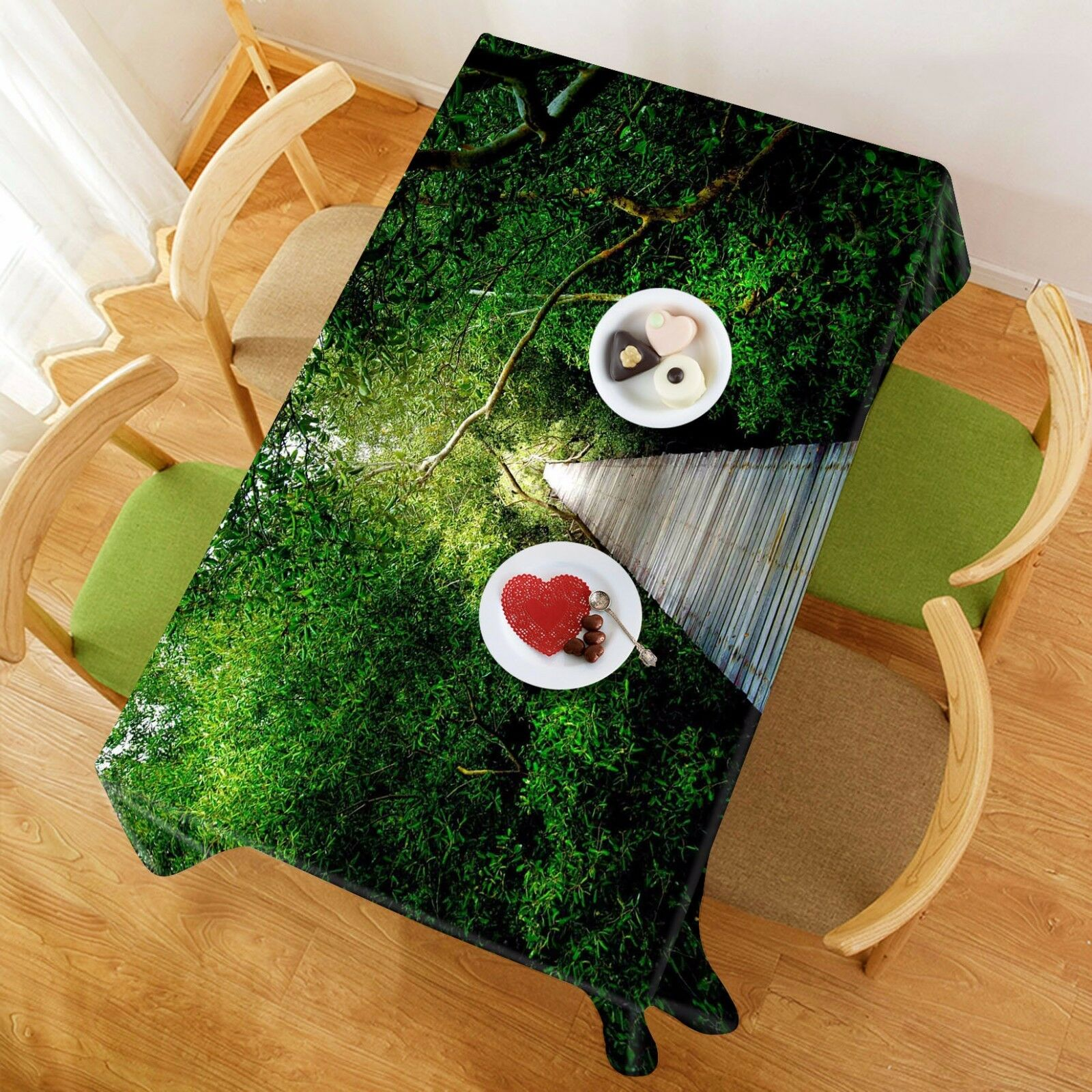 3D Wood Wood Wood Road 235 Tablecloth Table Cover Cloth Birthday Party Event AJ WALLPAPER 9b0a5d