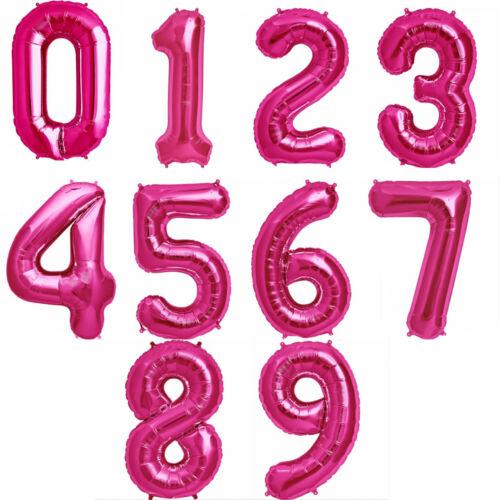 """32/"""" globos de papel de aluminio números Gigante Aire Llenar crear Cualquier Edad Cumpleaños Decoración balones"""