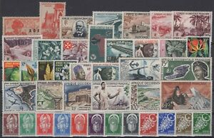 CG141739/ FRENCH WEST AFRICA / LOT 1945 – 1959 MINT MNH CV 143 $