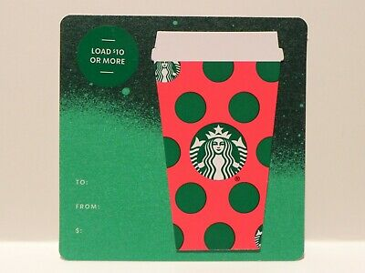 "2019 STARBUCKS CHRISTMAS /""GREEN DOT CUP/"" DIE CUT GIFT CARD #6171 NO VALUE"
