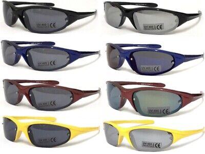 BW17 Kids UV400 Sport Sunglasses Semi-rimless Look Designer Wrap Running Cycling