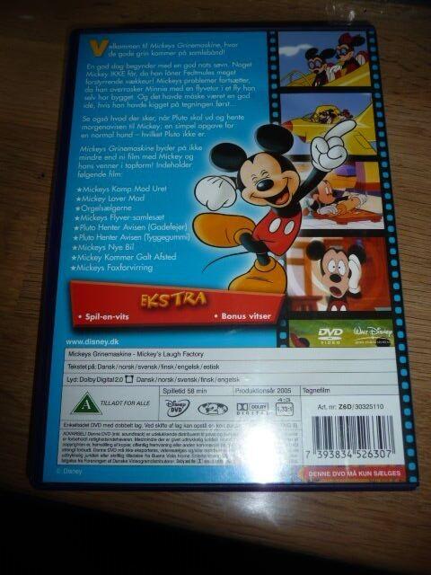 Mickeys Grinemaskine, DVD, tegnefilm