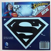 Dc Superman s Shield Logo Emblem Black Car Window Sticker Decal 5 1/2