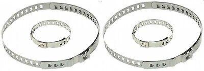 2x 2x Universal Spannband Schelle Faltenbalg Achsmanschette Manschette 25-125mm GroßEr Ausverkauf