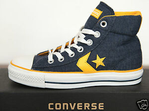 NUOVO ALL STAR CONVERSE Chucks HI CAN Sneaker STAR PLAYER 113827 blu marino