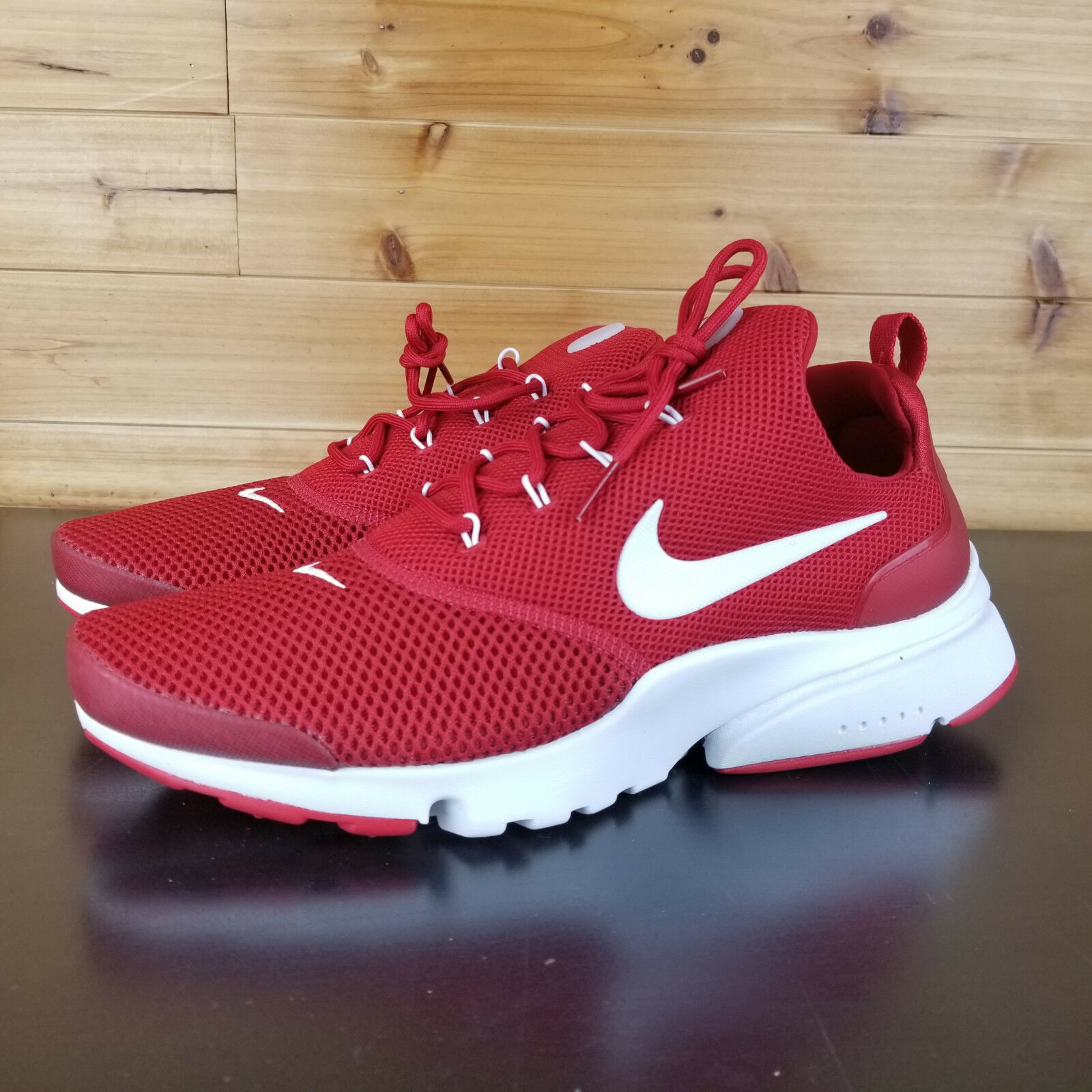 the latest 5386b 42c9b Nike Presto Fly Men shoes SZ 9.5 Gym Red Red Red White Sneakers 908019-600