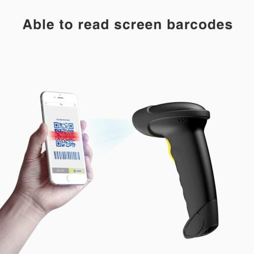 Read Barcodes on Displays Inateck 2D Wireless Barcode Scanner Black
