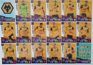 2020/21 PANINI Adrenalyn EPL Soccer Cards - Wolverhampton Team Set (18 cards)