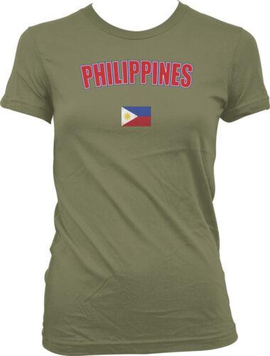 Republic of Phillipines Filipino Manila Quezon Country  Juniors T-shirt
