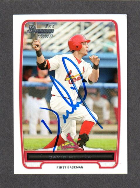 2012 BOWMAN BP 61  David Medina  ST LOUIS CARDINALS SIGNED AUTOGRAPH AUTO COA