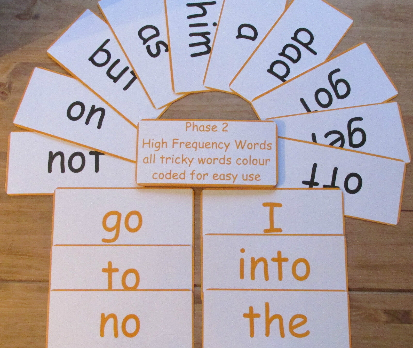Phases 2 - 5 colour coded EXTRA large 20 cm x 9.5 cm work with Phonics & Sounds