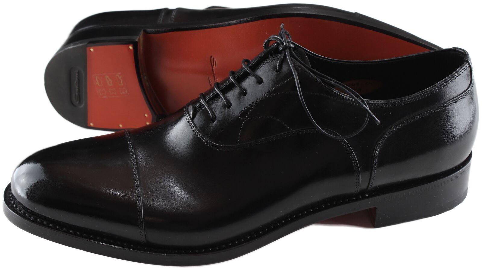 860217cc73579 NWB SANTONI OXFORD GOODYEAR schuhe schwarz crafted UK 11 11 11 3ab96a