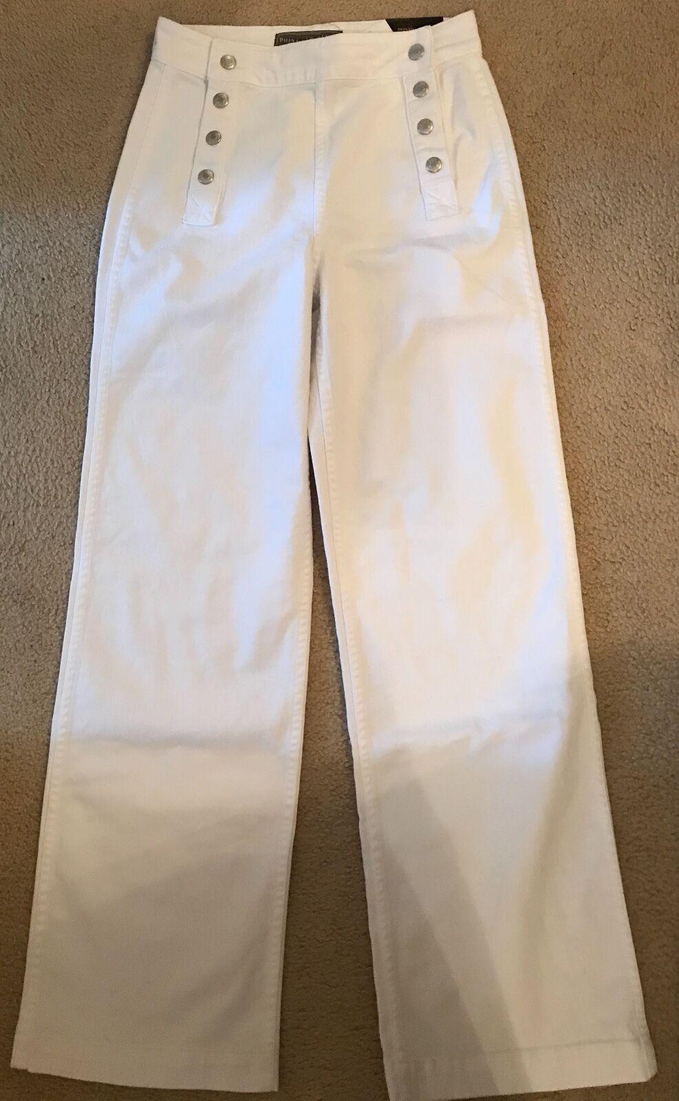 Point Sur für Jcrew MatRosa Jeans Weiß Größe 26 E8879