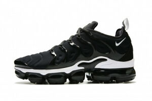 outlet store sale 773f2 9cd69 Image is loading Nike-Air-Vapormax-Plus-size-14-Black-White-
