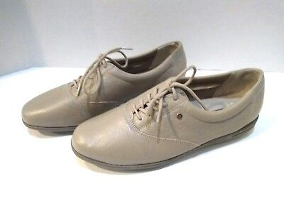 Easy Spirit Women Anti Gravity Beige/tan Jpmotion Oxford Leather Shoes Sz 7 1/2 Matching In Colour Women's Shoes Comfort Shoes