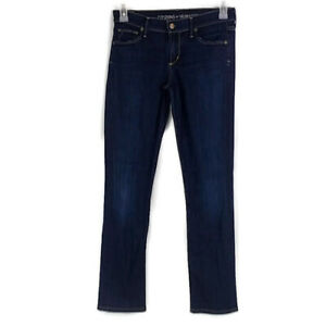 Citizens-of-Humanity-Womens-sz-27-Ava-Dark-Wash-Low-Rise-Straight-Leg-Jeans