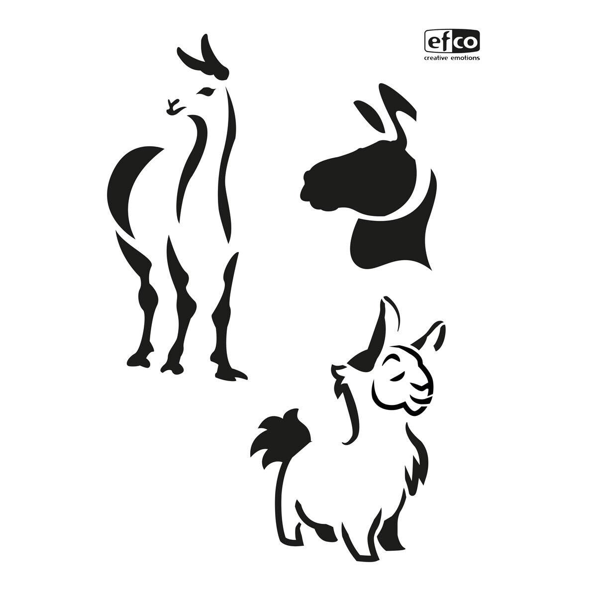 """3-teilig Stencils /""""Kakteen im Topf/"""" DIN A4 von Efco Schablone"""