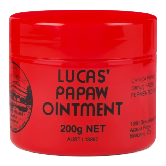 Lucas Papaw Ointment 200g Dry Chapped Lips Cracked Skin Chafing Relief Pawpaw
