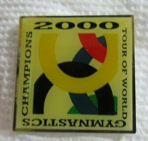 Gymnastics-2000-Tour-of-World-champions-Hat-Lapel-Pin-Souvenir