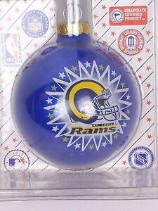 Vintage-Sports-Collector-Glass-Ball-Christmas-Ornament-NFL-LA-Rams-Football