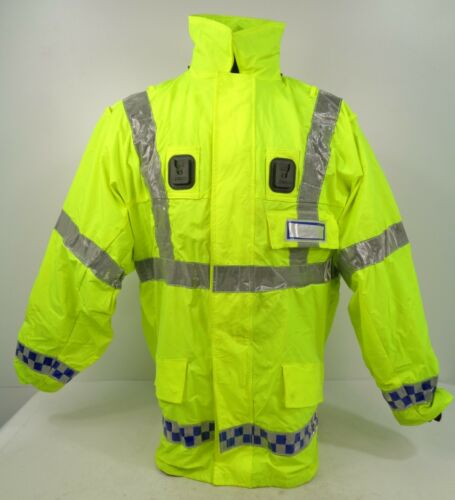 X Police Hi Vis Visibility Reflective Waterproof Foul Weather Jacket Coat G3 VF1